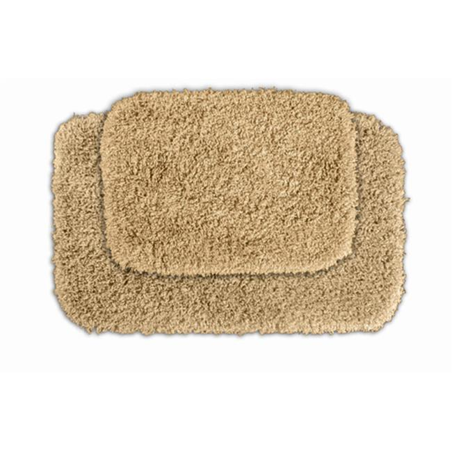 Garland Rug SER-2pc-05 Serendipity Shaggy Washable Nylon Bathroom 2 Piece Rug Set Linen