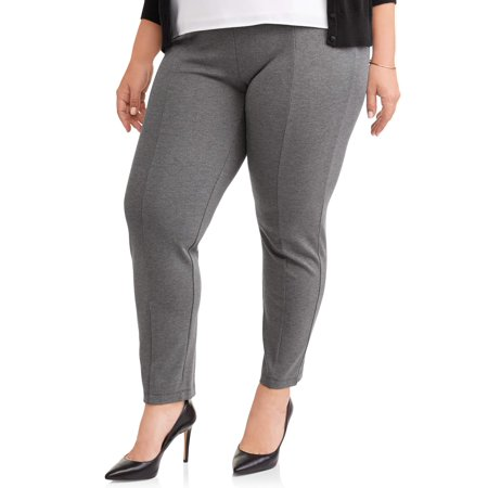 cdd3ac71582 Terra   Sky Women s Plus Stretch Woven Straight Leg Pull On Pant ...