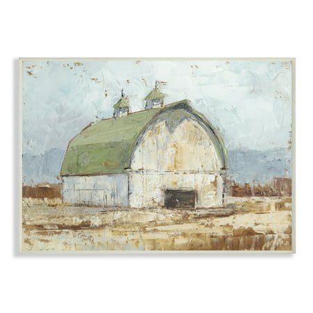 The Stupell Home Decor Collection Natural Earth Painted Barn Oversized Wall Plaque Art, 12.5 x 0.5 x - Barn Dance Decor