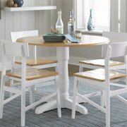 """Progressive Christy 40"""" Round Dining Table in Light Oak and White"""