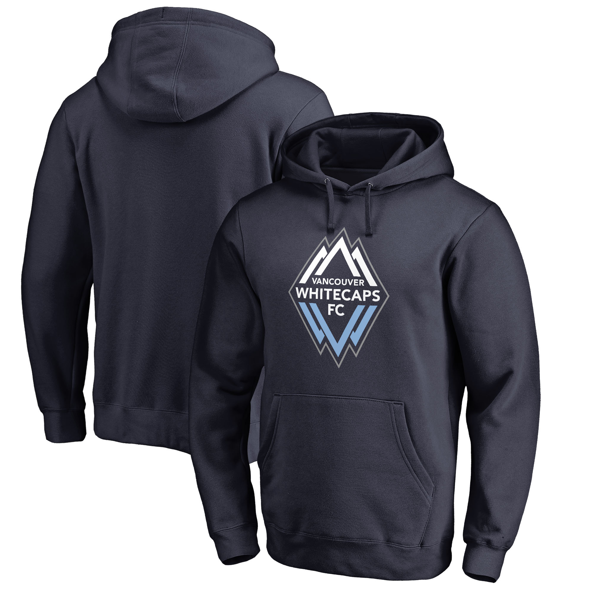 Vancouver Whitecaps FC Fanatics Branded Primary Logo Pullover Hoodie - Navy