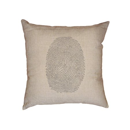 Coded Binary Fingerprint Graphic Decorative Linen Throw Cushion Pillow Case with Insert Binary Code Silk