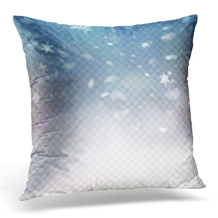USART Blue Overlay Stock Falling Snow Snowflakes Snowfall Fall of Flake 10 White Effect Pillow Case Pillow Cover 18x18 inch (Snowflake Overlay)
