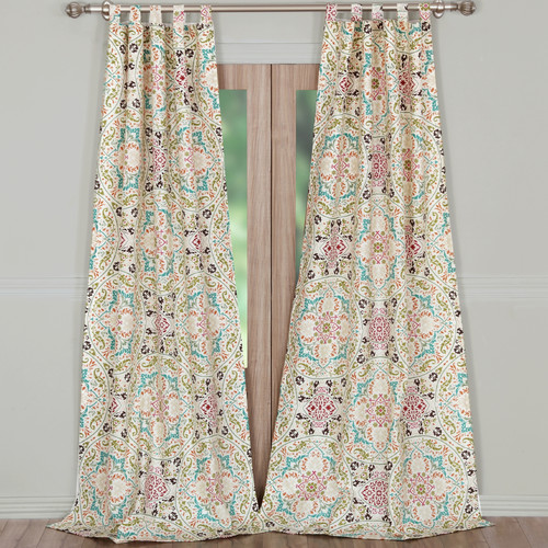 greenland home fashions morocco curtain panels set of 2 - Greenland Home Fashions