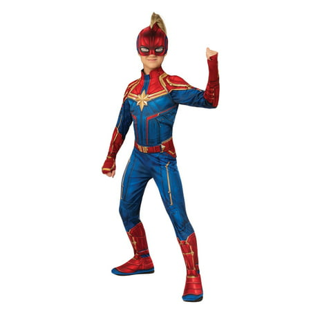 Halloween Avengers Captain Marvel Hero Suit Child Costume (Homemade Spongebob Halloween Costume)
