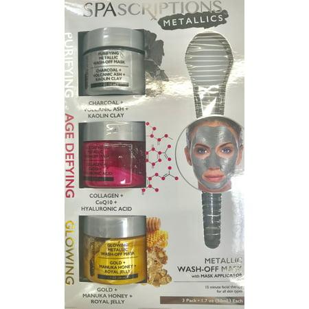 Spascriptions Metallic 3pk Jar Masks