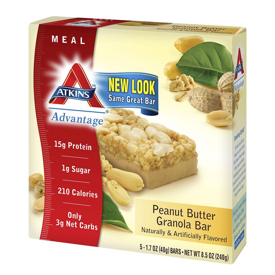 Atkins Advantage Meal Bars Peanut Butter Granola1.7 oz. x 5 pack(pack of 12)