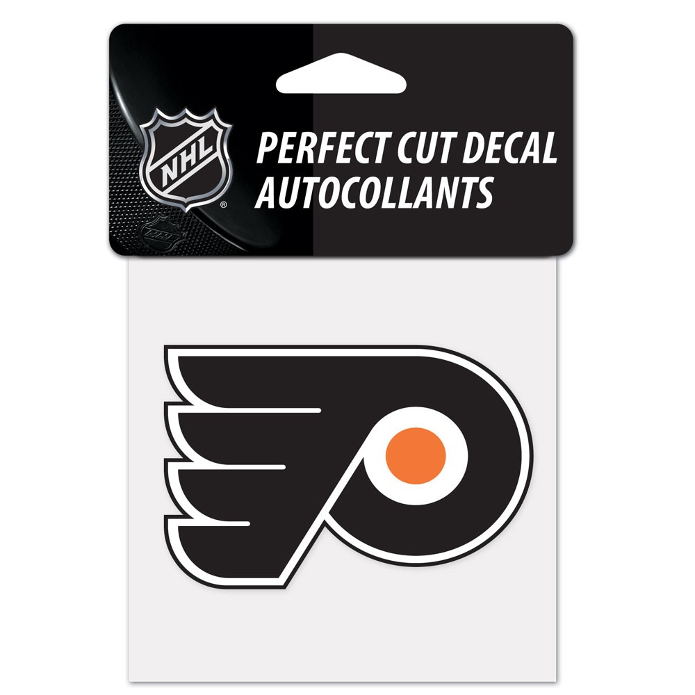 Philadelphia Flyers Official NHL 4 inch x 4 inch  Die Cut Car Decal by Wincraft