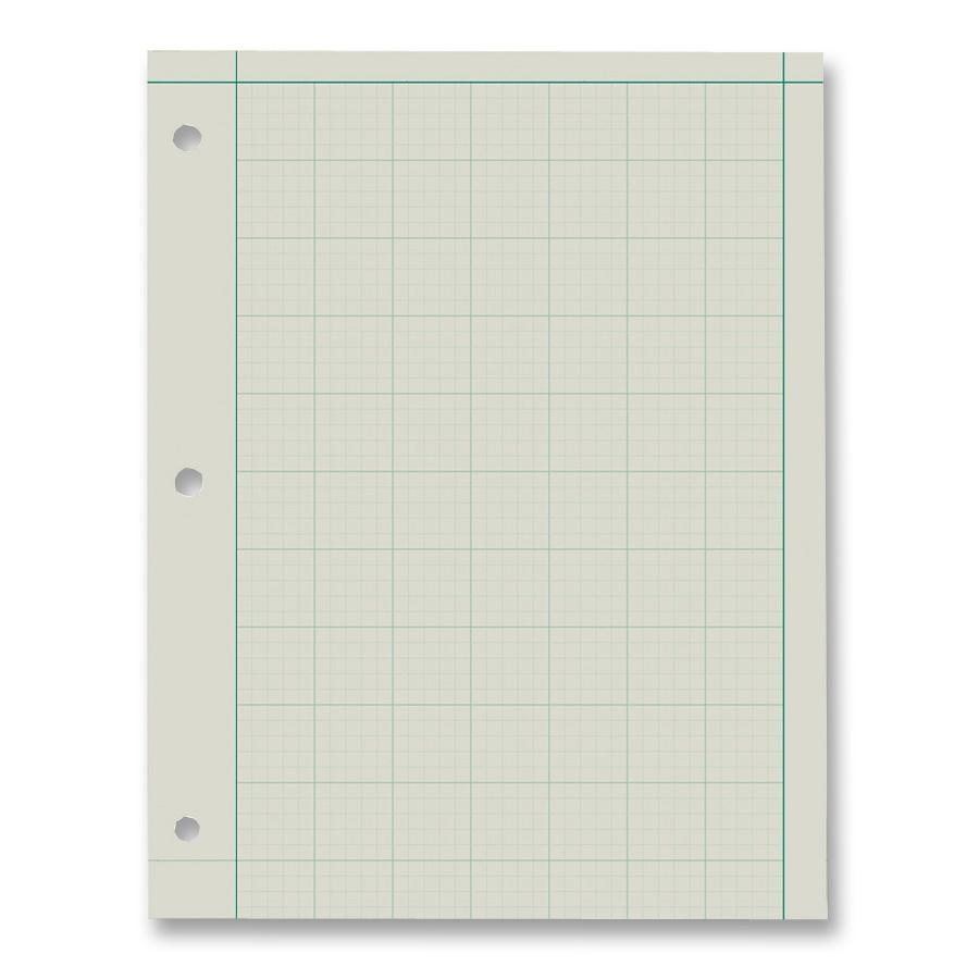 Ampad Green Tint Engineer Pads - 200 Sheet - 15 Lb - Letter 8.50 ...