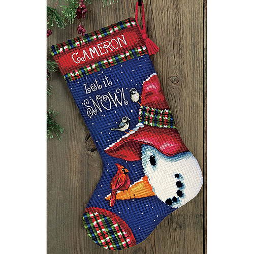 "Dimensions Snowman Perch Needlepoint Kit, 13"" x 20"""