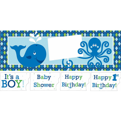 Creative Converting Ocean Preppy Giant Party Banner