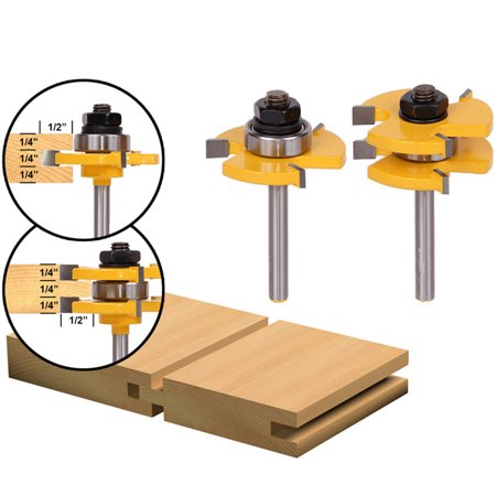 Tongue and Groove Router Bit Set (Groove Forming Bit)