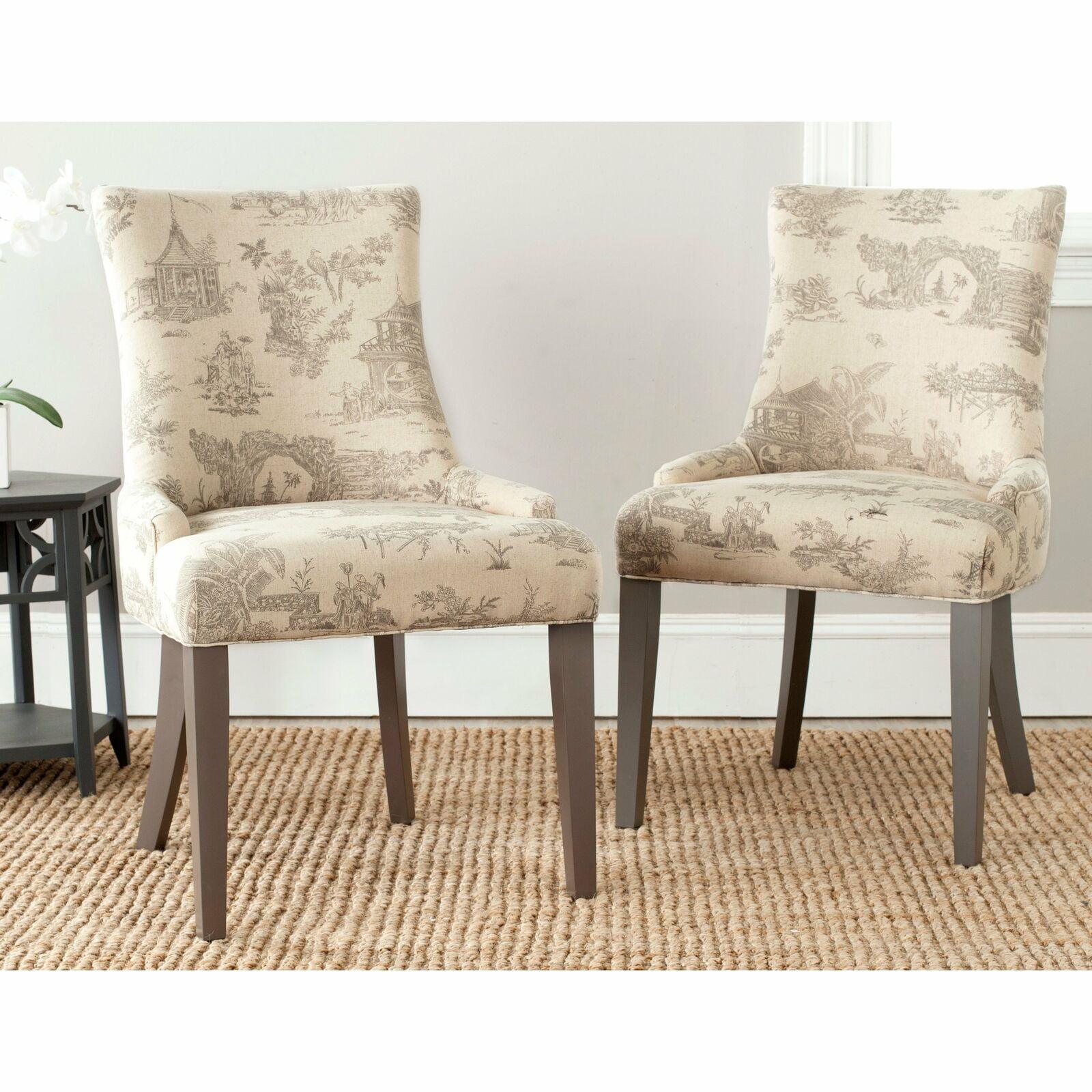 En Vogue Dining Lester Taupe Print Dining Chairs Set Of 2 0 Walmart Com Walmart Com