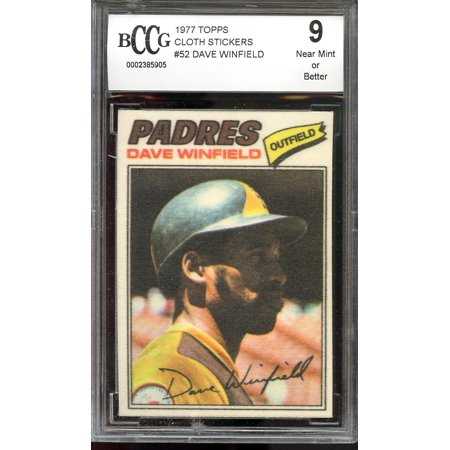 San Diego Padres Stickers (1977 topps cloth stickers #52 DAVE WINFIELD san diego padres BGS BCCG 9)