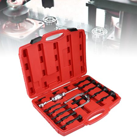 Anauto 16 Pcs Car Inner Disassemble Bearing Blind Hole Remover Extractor Puller Set  Bushes Housing, Car Bearing Puller