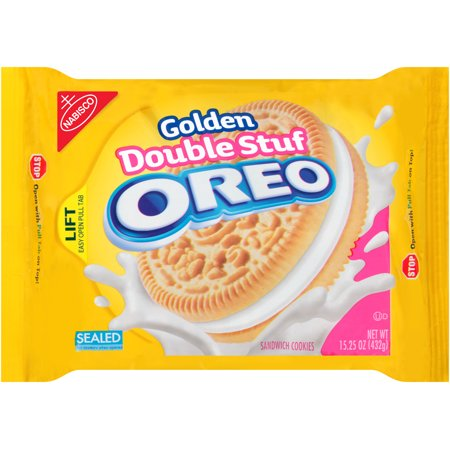 Nabisco Golden Double Stuf Oreo Sandwich Cookies, 15.25 OZ