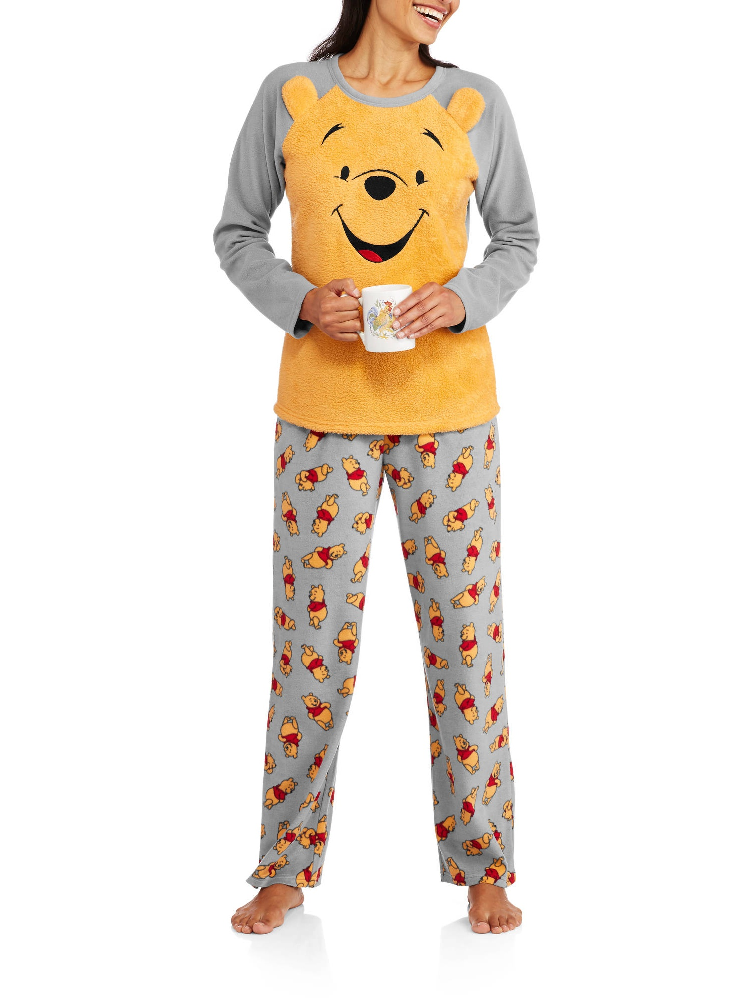 497c81066e00 Licensed - Winnie the Pooh Women s   Women s Plus 3D PJ Set ...