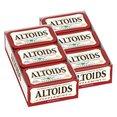 Altoids Breath Mints, Classic Peppermint, 1.76 Oz Tin (Mint Green Stuff)