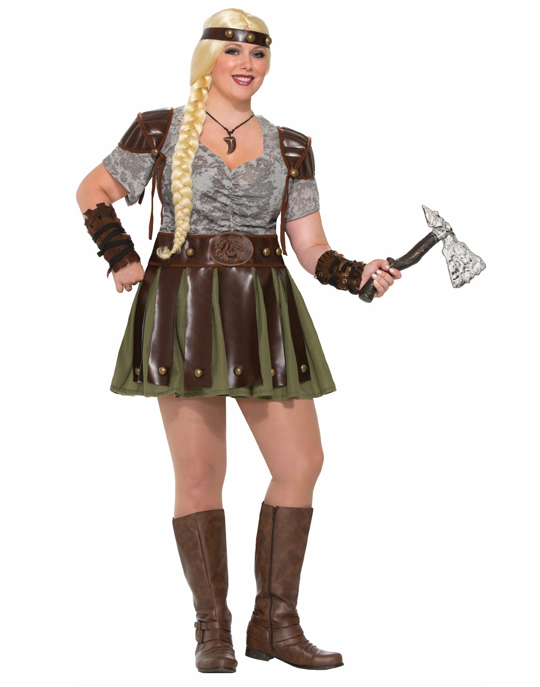 Viking Medieval Vixen Barbarian Warrior Womens Costume-Plus Size  sc 1 st  Walmart : womens viking costume  - Germanpascual.Com