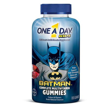 4 Pack One A Day Kids Batman Multivitamin Gummies, 180 Count each