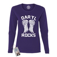 The Walking Dead Darl Rocks Wings Womens Long Sleeve Shirt & Magnet