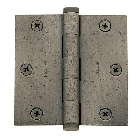 Baldwin 1035452I 3.5 x 3.5 in. Square Corner Hinge, Distressed Antique Nickel - image 1 de 1