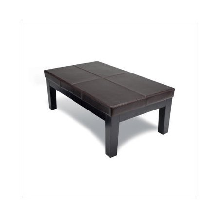 Sofas To Go Boulder Leather Upholstered Coffee Table