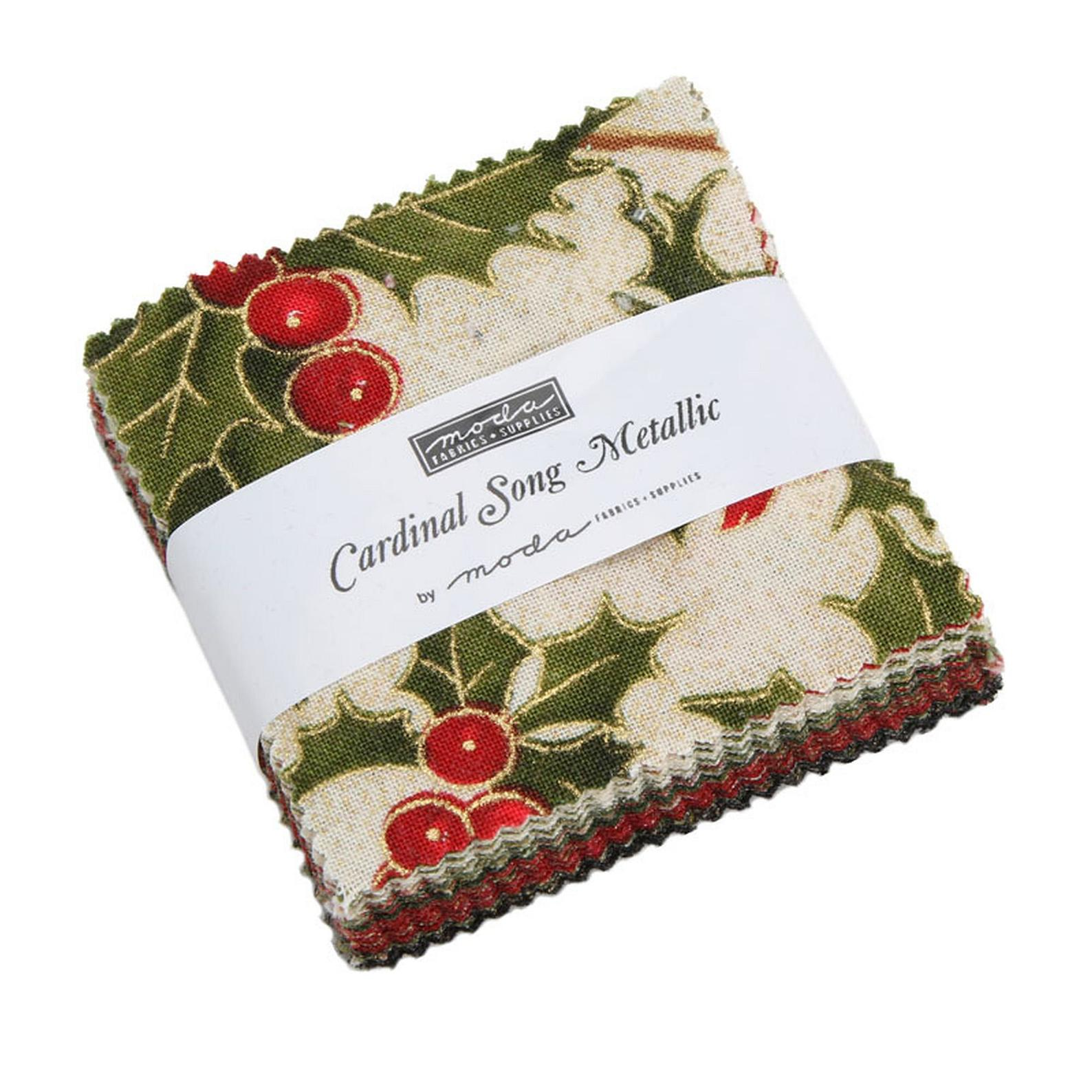 Moda Fabric Sweet Christmas Mini Charm Patchwork Quilting 2.5 Inch Squares