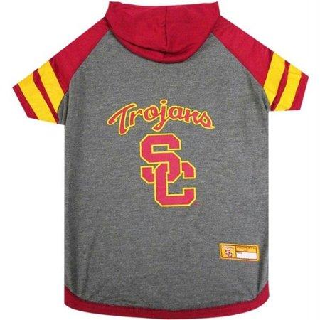 Pet Hoodie T-shirts - USC Trojans Pet Hoodie T-Shirt - Large