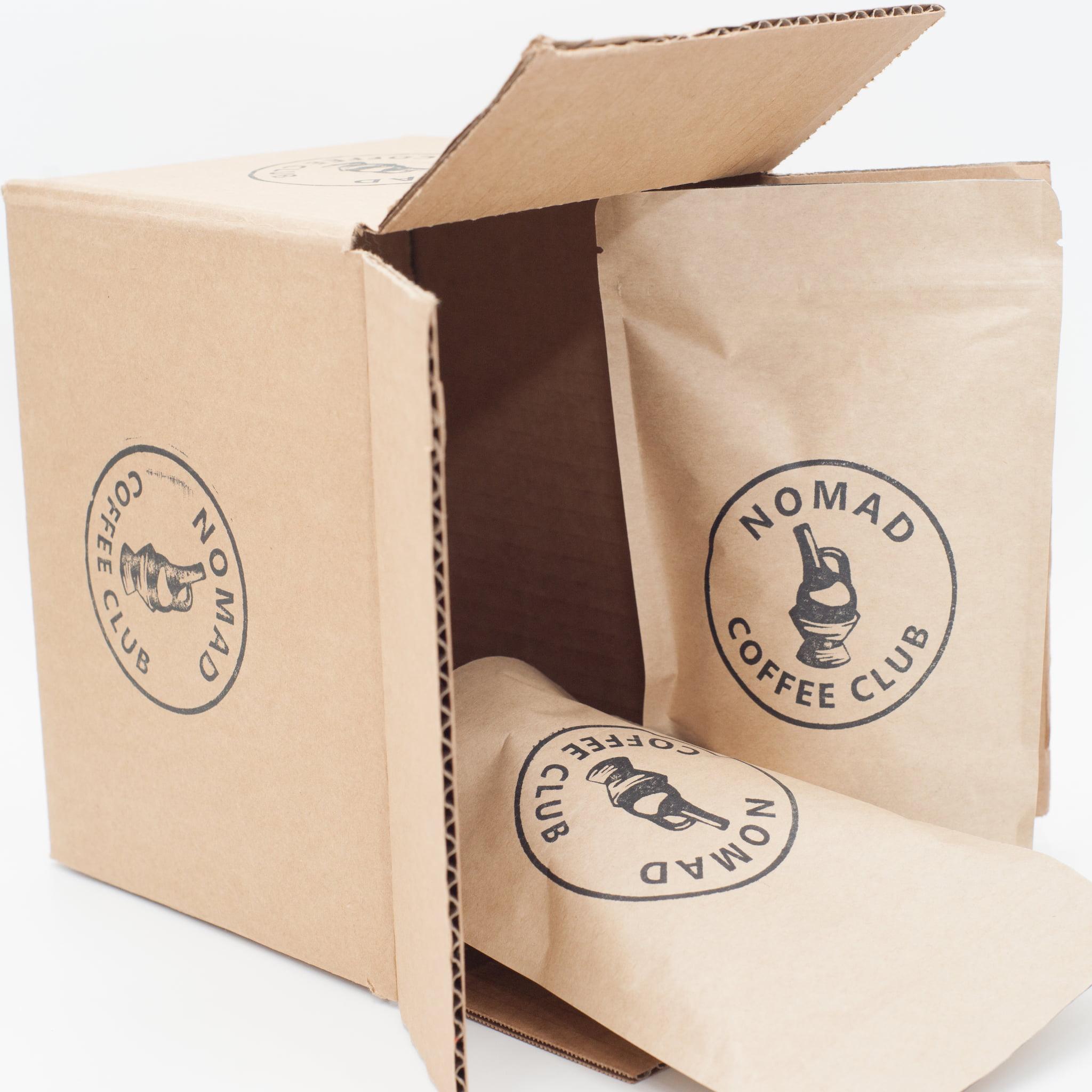 "Nomad Coffee Club ""Dark Roast Coffee Lovers"" Variety Box, Dark Roast, 6 Oz, 2 Bags"