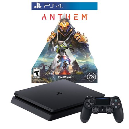 Sony PlayStation 4 Slim 1TB Anthem Console Bundle - Jet Black