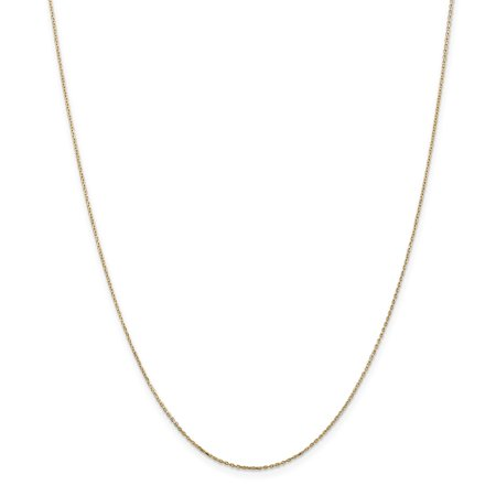 Roy Rose Jewelry 14K Yellow Gold .8mm Diamond-cut Cable Chain Necklace ~ Length 20'' inches