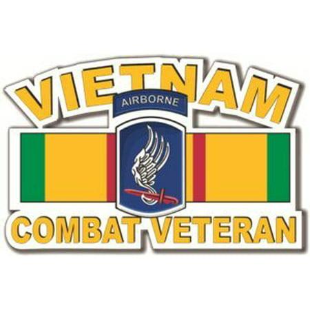 University Magnet Pack - MAGNET 173rd Airborne Vietnam Combat Veteran 2 pack of 3.8 Inch Decals