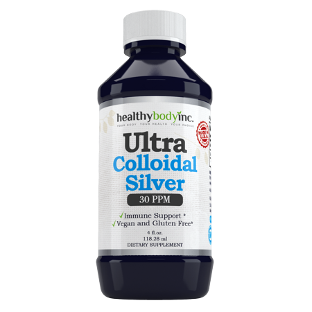 Pure Colloidal Silver 30 PPM Vegan and Gluten Free Colloidal Silver Nano Liquid Silver 4 oz.