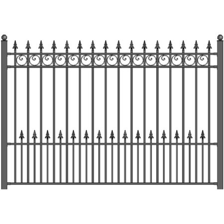 Antique Iron Fence - ALEKO 8' x 5' Iron Driveway Fence, Prague