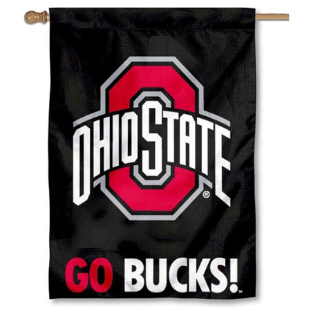 Ohio State University Buckeyes Logo Flag