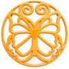 The Pioneer Woman Cast Iron 8  Timeless Beauty Yellow Trivet