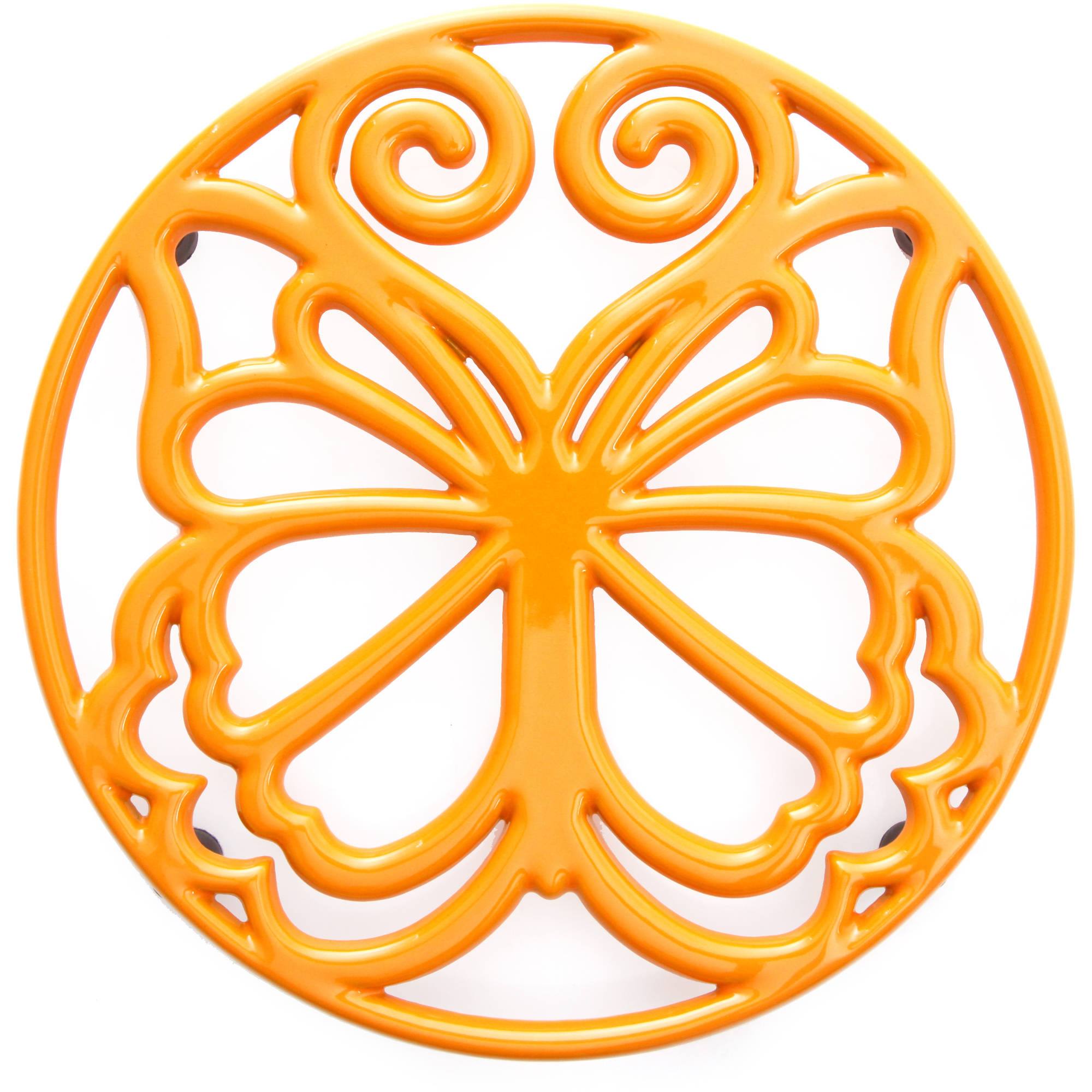 """The Pioneer Woman Timeless Beauty 8"""" Cast Iron Trivet, Yellow"""