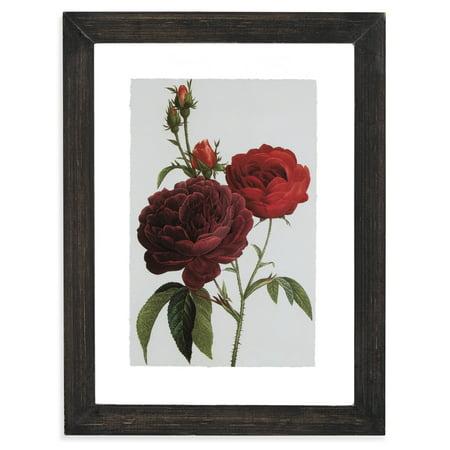 Vintage Red Roses Floating Black 12.5