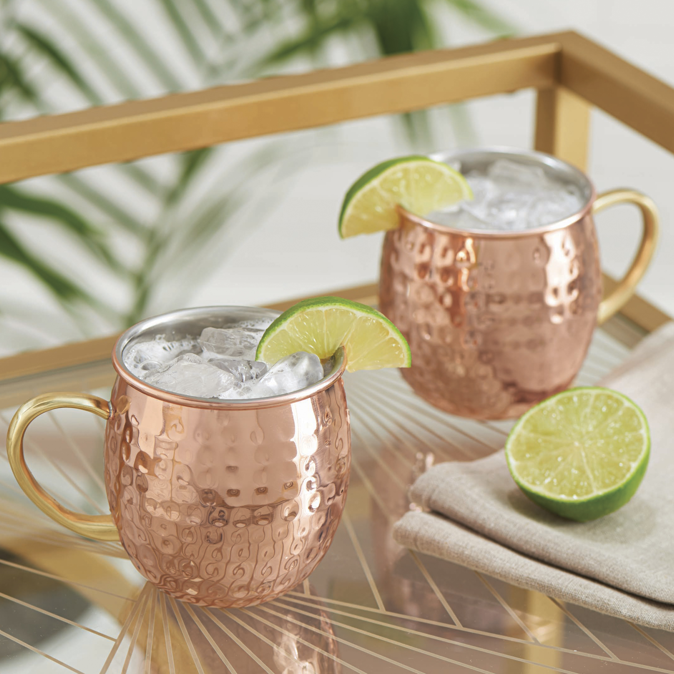 Better Homes and Gardens Copper S/2 Hammered Mule Mug