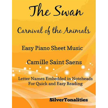 The Swan Carnival of the Animals Easy Piano Sheet Music -