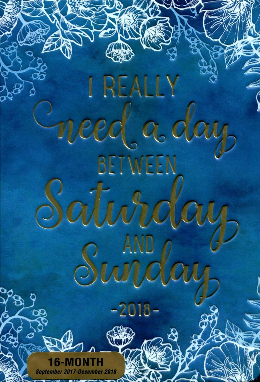I Really Need a Day Between Saturday and Sunday 2018 Weekly ...