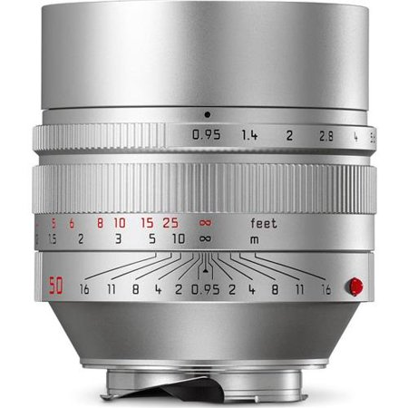 50Mm F 0 95 Noctilux M Aspherical  Manual Focus  6 Bit Coded  Lens For M System   Silver   U S A  Warranty