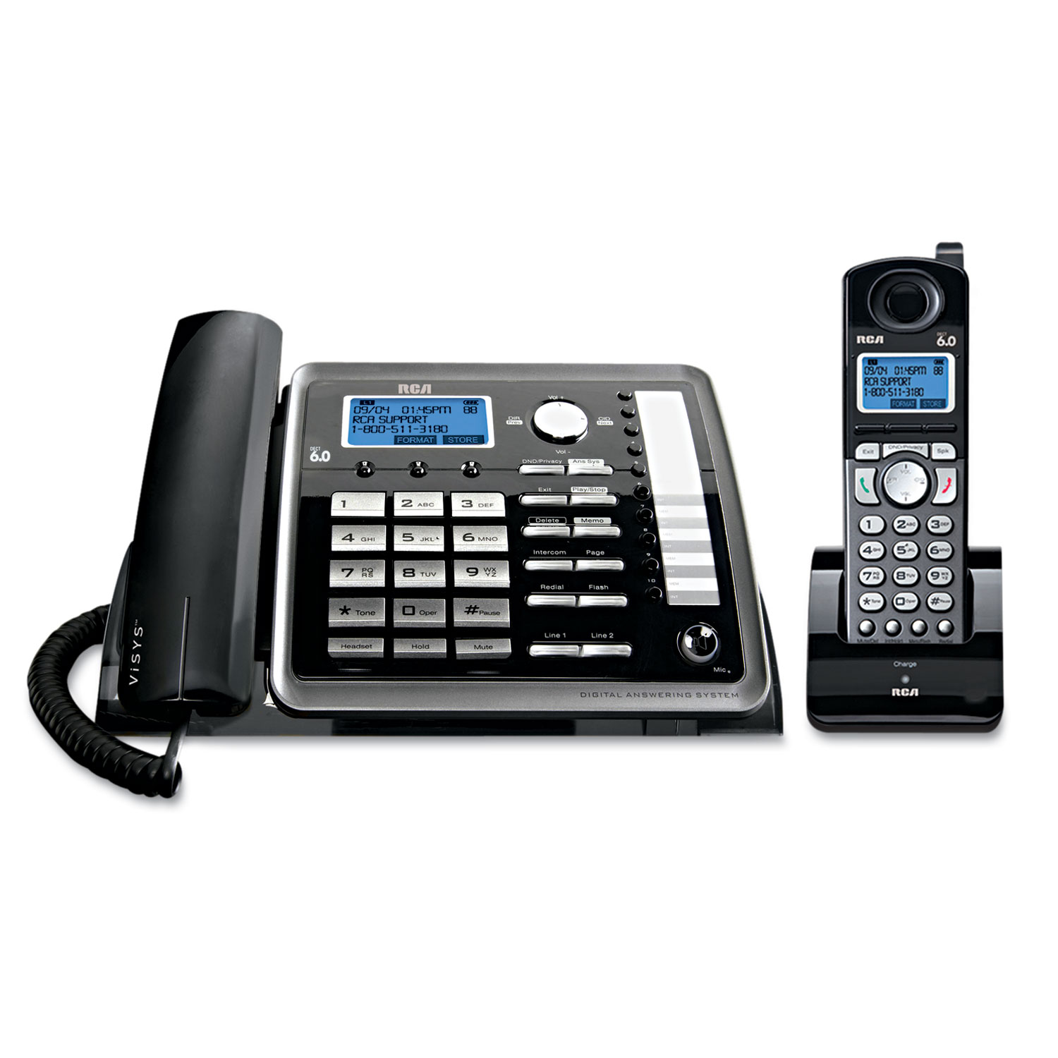 RCA 2-Line Corded Cordless Speaker Phone and ITAD by RCA