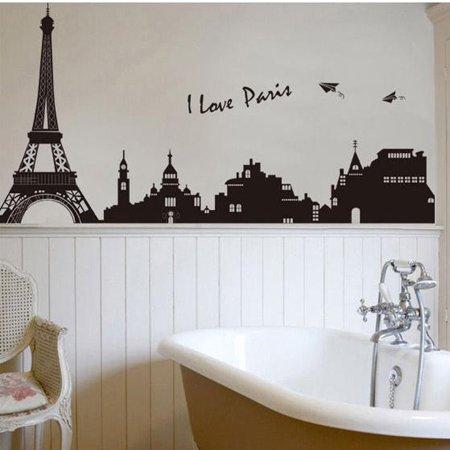 DIY Paris City Eiffel Tower Removable Art Decal Mural Bedroom Wall Sticker - Eiffel Tower Decor