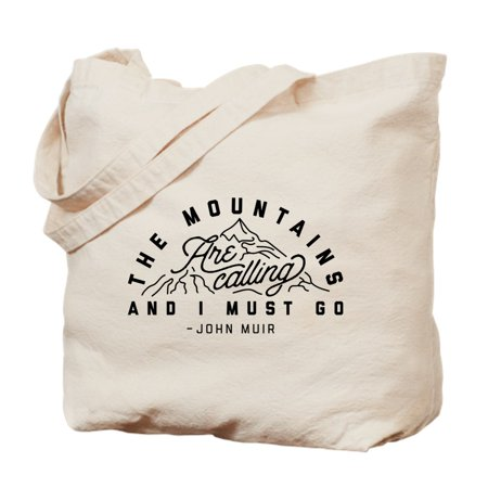 Go Go Girl Bag (CafePress - The Mountains Are Calling And I Must Go - Natural Canvas Tote Bag, Cloth Shopping Bag)