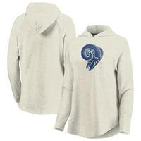Los Angeles Rams Fanatics Branded Women's Game Lead Pullover Hoodie - Oatmeal