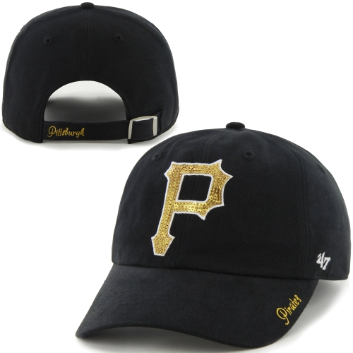 57c21bb7c1953 ... new zealand product image pittsburgh pirates 47 brand womens sparkle  slouch hat black b42af 3bbef