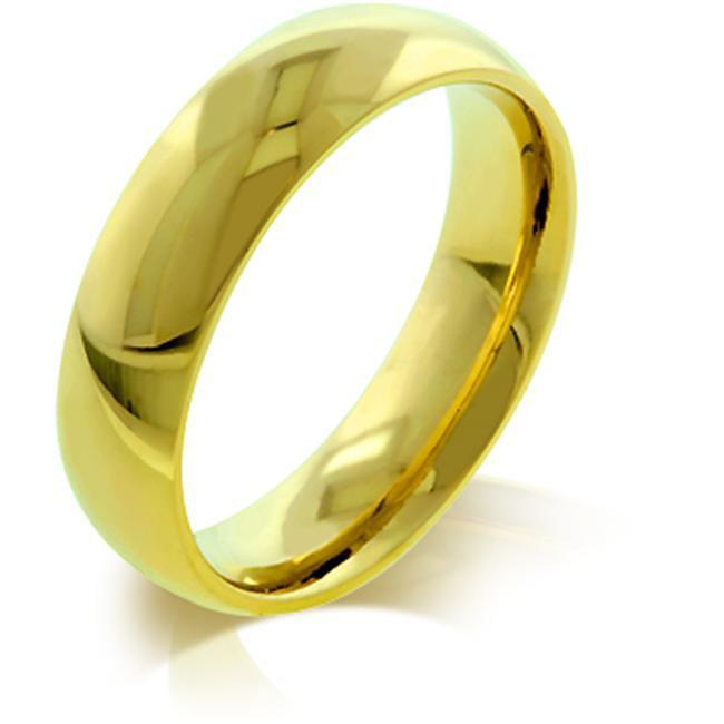 Kate Bissett R08038GV-V00-13 5mm IPG Gold Plated Stainless Steel Wedding Band
