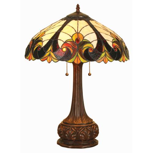 Chloe Lighting Tiffany Victorian 24'' H Table Lamp with Bowl Shade